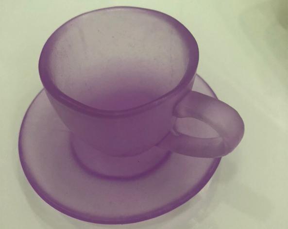 Чашка с блюдцем большая